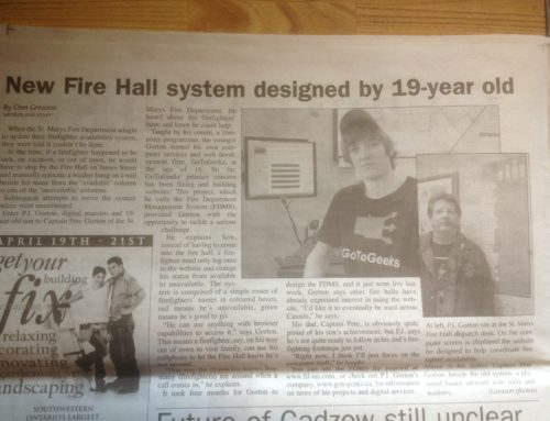 A blast from the past: FDMS Newspaper Article